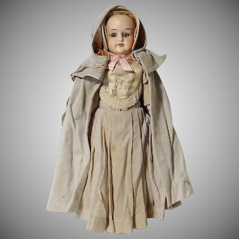 Antique Doll with Shaker Clothes Ensemble