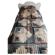 Antique Log Cabin Quilt - Unusual