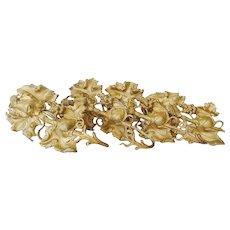 Vintage Brass Drapery Tiebacks