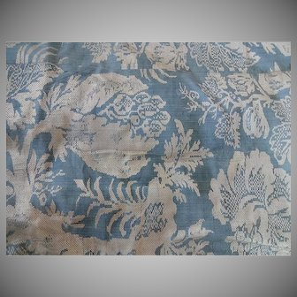 Antique Worsted Brocade Bed Valence - 1840s
