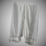 Victorian Ribbon & Lace Split Seat Bloomers
