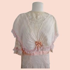 Antique Edwardian Silk Debutante Gown