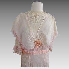 Antique Edwardian Silk Debutante Gown