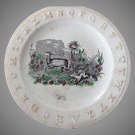 Old ABC Alphabet Plate - Rare Pattern