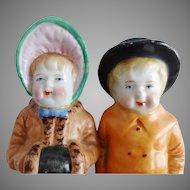 Victorian Kate Greenway Salt & Pepper Figurines