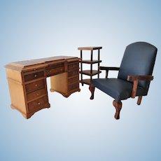 Vintage Shackman Dollhouse Office Suite