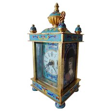 Vintage Cloisonne Carriage Clock