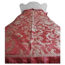 Vintage Silk Brocade Bedspread