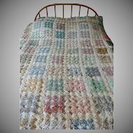 Old Silver Dollar Lollipop Quilt 1940s