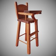 Vintage Shackman Doll House Baby's High Chair