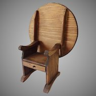 Vintage Shackman Colonial Doll House Chair Hutch Table
