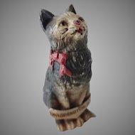 Old Cold Paint Cat Souvenir Figurine