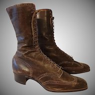 Antique Womens Lace Up Boots Shoes 1870-1880s