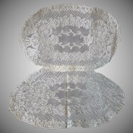Old Alencon Lace Doilies Set