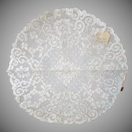 Old Alencon Lace Table Mat w Original Tags