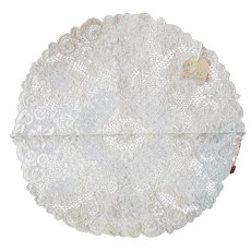 Old Alencon Lace Table Mat w Original Tags - Red Tag Sale Item