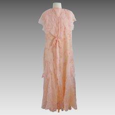 Chiffon Debutante Party Wedding Dress Circa 1930