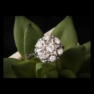 Estate Diamond Engagement Ring 14k White Gold Diamond Engagement Ring