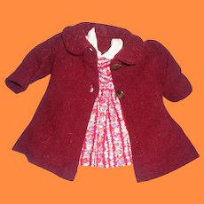 """Coat and Matching Dress Set for 19"""" Composition Doll ~ Very Pretty Mommy Made"""