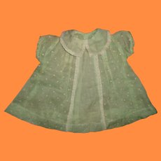 Pretty Organdy Dress for Composition Mama Doll or Bisque Baby Doll