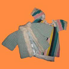 """Dress Set for 20"""" Dy-Dee or Large Composition or Bisque Baby Doll"""
