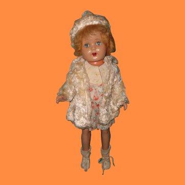 "1930s Factory Original 19"" Composition Girl Doll"
