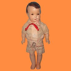 "1927 Grace Corry Rockwell ""Little Brother"" Composition TLC Doll ~ Original Clothing"