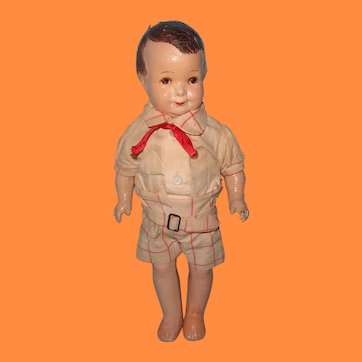 """1927 Grace Corry Rockwell """"Little Brother"""" Composition TLC Doll ~ Original Clothing"""