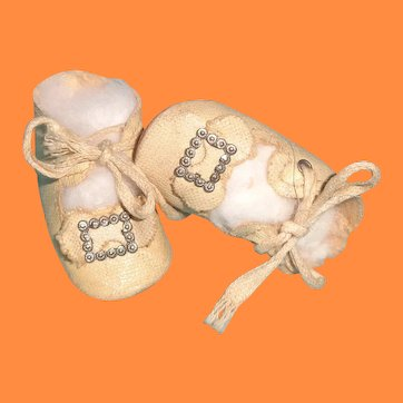 Buckle Design Oil Cloth Shoes for Medium Size Composition or Bisque Doll