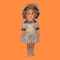 "Beautiful Factory Original 17"" Composition Doll"