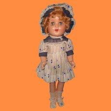 "Beautiful Factory Original 17"" Composition Doll"