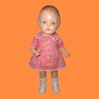 "Adorable 14"" Composition Girl Doll ~ Cutie"