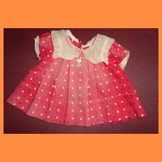 "Authentic Ideal Shirley Temple Dress for 18"" Composition Doll ~ TLC"