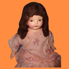 "Factory Original 21"" Composition Mama Doll ~ Sausage Curls ~ Early"