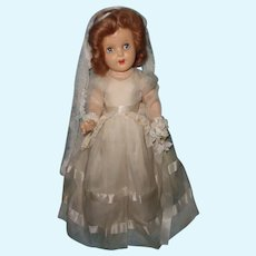 """Stunning Factory Original 19""""  Composition Bride Doll ~ Unplayed with"""