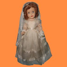 "Stunning Factory Original 19""  Composition Bride Doll ~ Unplayed with"