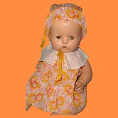 Dress w/ Matching Hat for Chunky Composition or Bisque Doll
