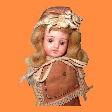 "10"" Factory Original German Bisque Head Doll"