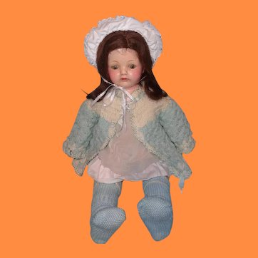 """Early Effanbee 19"""" Pretty Composition Mama Doll"""