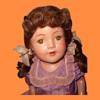 "Large Factory Original  25"" Composition Mama Doll ~ Very Pretty"