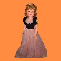 "Factory Original 27"" Little Lady Composition Doll ~ Beautiful Color by Effanbee"