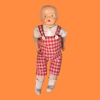 Early Composition Straw Stuffed Baby Doll