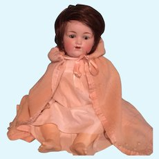 """20"""" A.M. 990 Chubby Bisque Socket Head Baby Doll ~ Germany"""