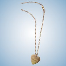 Authentic Effanbee Metal Heart Necklace I.D. for Large Mama Doll
