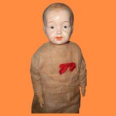 "Factory Original 25"" Elekta Composition Baby Doll ~ Straw Stuffed"