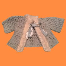 """Beautiful Sweater for 20"""" Dy-Dee Baby or Other Chunky Composition or Bisque Doll"""