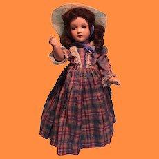 "Pretty Scarlet O'Hara Type Composition 14"" Doll ~ Pretty"