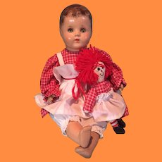 Cute Dolly Twin Set ~ Composition Doll