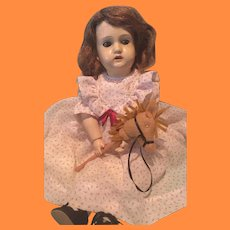 """Louis Amberg & Son Early Ball Jointed 16"""" American Composition Doll"""