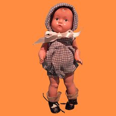 """Factory Baby Tinyette 2 pc Romper Set with Shoes for 8"""" Composition Doll"""